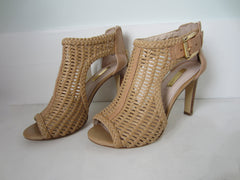 Louise et Cie Woven Leather Nude Booties
