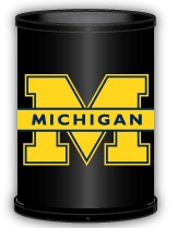 Michigan Wolverines Trashcan