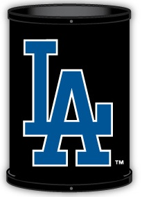 Los Angeles Dodgers Trashcan