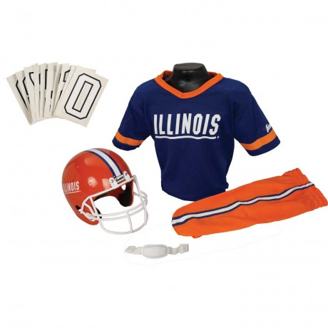 Illinois Fighting Illini NCAA Youth Uniform Set - Illinois Fighting Illini Uniform Small (ages 4-6)