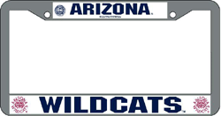 Arizona Wildcats License Plate Frame Chrome