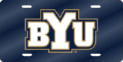 Brigham Young Cougars License Plate Laser Cut