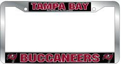 Tampa Bay Buccaneers License Plate Frame Chrome Deluxe NFL