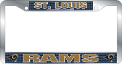 St. Louis Rams License Plate Frame Chrome Deluxe NFL