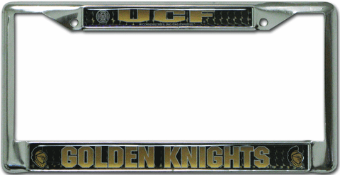 Central Florida Golden Knights License Plate Frame Chrome Deluxe