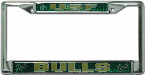 South Florida Bulls License Plate Frame Chrome Deluxe
