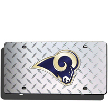 St. Louis Rams License Plate Laser Tag