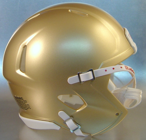 Mini Speed Football Helmet SHELL South Bend Gold