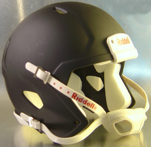 Mini Speed Football Helmet SHELL Matte Black/White Parts