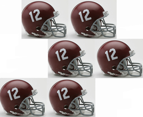 Alabama Crimson Tide NCAA Mini Football Helmet #12 count 6