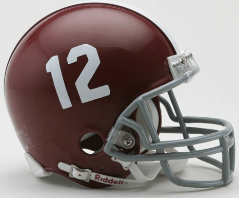 Alabama Crimson Tide NCAA Mini Football Helmet #12