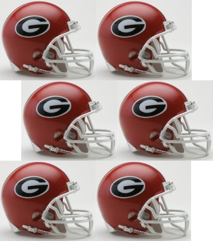 Georgia Bulldogs NCAA Mini Football Helmet count 6