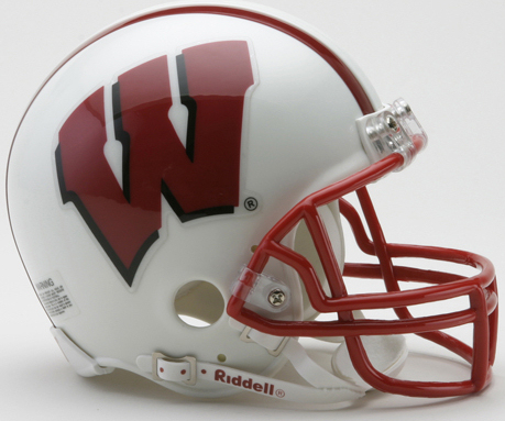 Wisconsin Badgers NCAA Mini Football Helmet <B>Discontinued</B>
