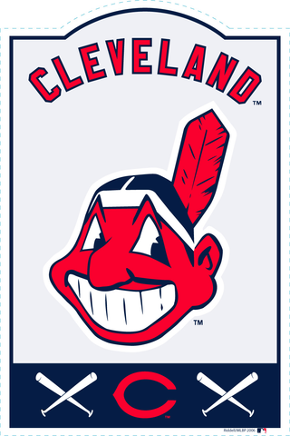 Cleveland Indians MLB Sign