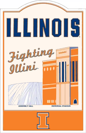 Illinois Fighting Illini NCAA Sign