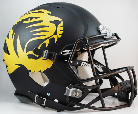 Missouri Tigers Speed Football Helmet <B>Matte Black Alt</B>