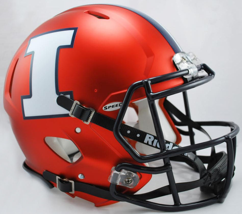 Illinois Fighting Illini Speed Football Helmet <B>Orange White I</B>