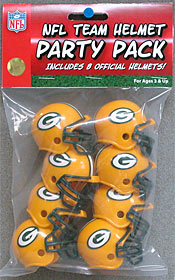 Green Bay Packers Gumball Party Pack Helmets