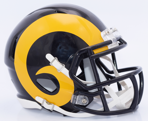St. Louis Rams NFL Mini Speed Football Helmet <B>2017 Color Rush </B>
