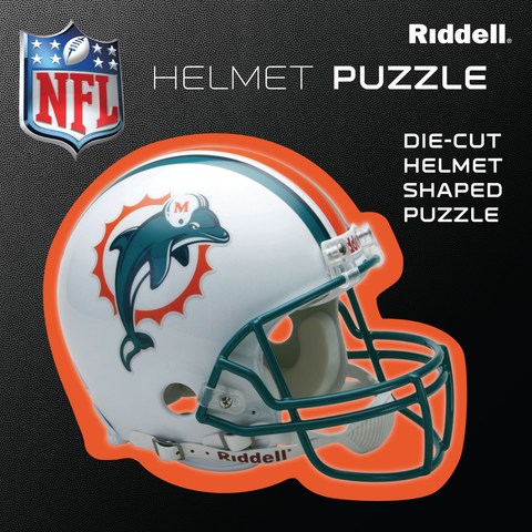Miami Dolphins Helmet Puzzle 100 Pieces Riddell