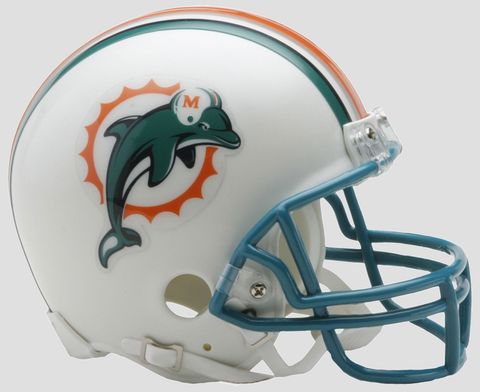 Miami Dolphins 1997 to 2012 Riddell Mini Replica Throwback Helmet