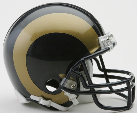 St. Louis Rams 2000 to 2016 Riddell Mini Replica Throwback Helmet