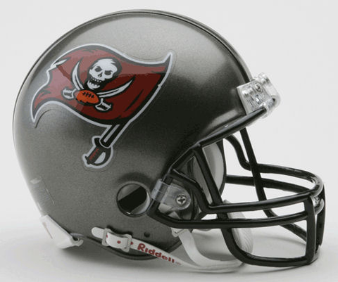 Tampa Bay Buccaneers 1997 to 2013 Riddell Mini Replica Throwback Helmet