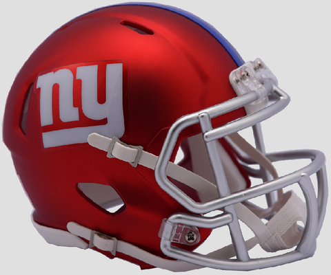 New York Giants  BLAZE Speed Mini Football Helmet <B>2017 BLAZE</B>