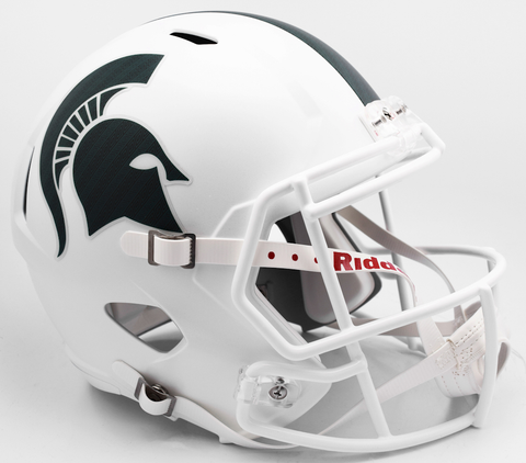 Michigan State Spartans Replica Speed Football Helmet Matte White