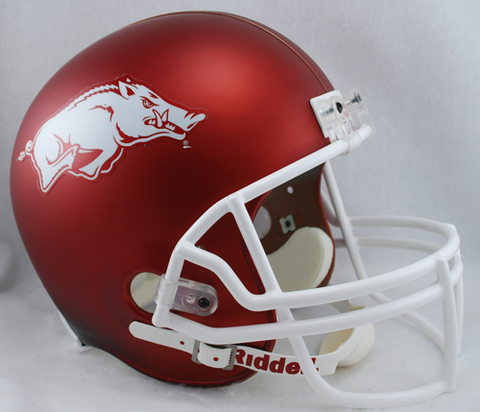 Arkansas Razorbacks Full Size Replica Football Helmet <B>Matte w/Black Shading</B>