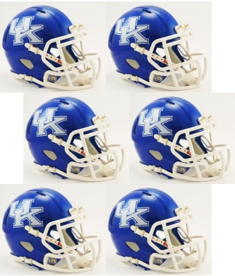 Kentucky Wildcats NCAA Mini Speed Football Helmet 6 count