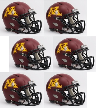 Minnesota Golden Gophers NCAA Mini Speed Football Helmet 6 count