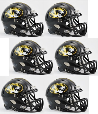 Missouri Tigers NCAA Mini Speed Football Helmet 6 count