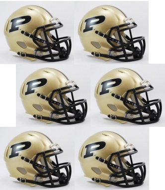 Purdue Boilermakers NCAA Mini Speed Football Helmet 6 count