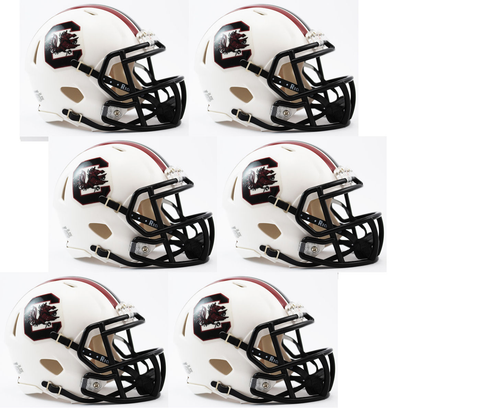 South Carolina Gamecocks NCAA Mini Speed Football Helmet 6 count