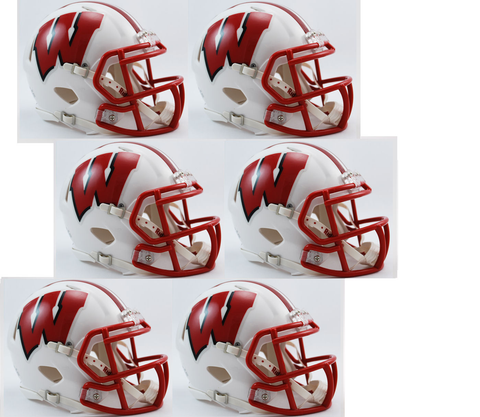 Wisconsin Badgers NCAA Mini Speed Football Helmet 6 count