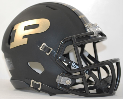 Purdue Boilermakers NCAA Mini Speed Football Helmet <B>Matte Black</B>