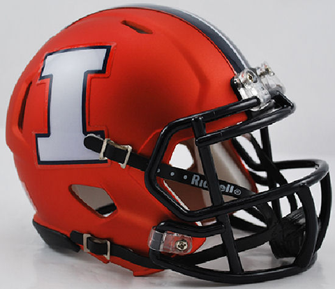Illinois Fighting Illini NCAA Mini Speed Football Helmet <B>Orange White I</B>