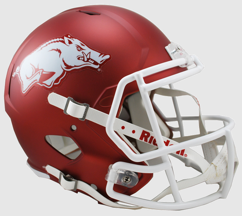 Arkansas Razorbacks Speed Replica Football Helmet <B>Matte Cardinal</B>