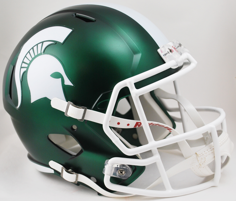 Michigan State Spartans Speed Replica Football Helmet Satin Green