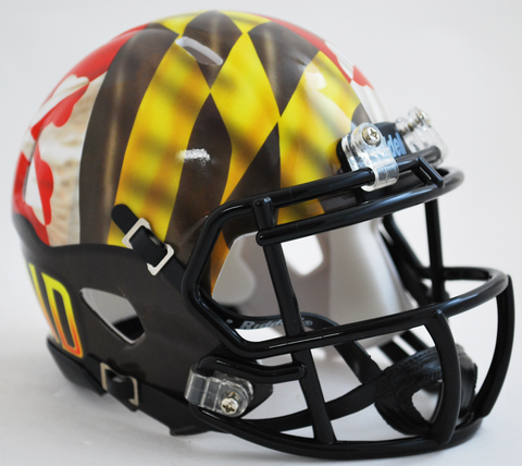 Maryland Terrapins NCAA Mini Speed Football Helmet <B>Pride</B>
