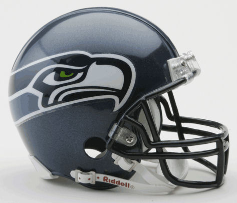 Seattle Seahawks 2002 to 2011 NFL Mini Football Helmet