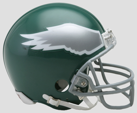 Philadelphia Eagles 1974 to 1995 Riddell Mini Replica Throwback Helmet