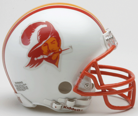 Tampa Bay Buccaneers 1976 to 1996 Riddell Mini Replica Throwback Helmet