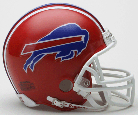 Buffalo Bills 1987 to 2001 Riddell Mini Replica Throwback Helmet