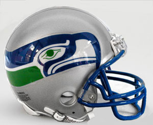 Seattle Seahawks 1983 to 2001 Riddell Mini Replica Throwback Helmet