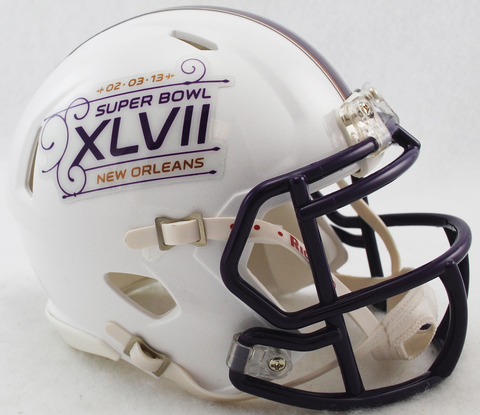 Super Bowl 47 XLVII Mini Speed Football Helmet