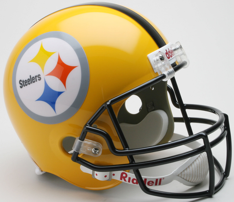 Pittsburgh Steelers 1962 Full Size Replica Throwback Helmet 75th Anniversary