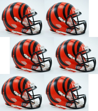 Cincinnati Bengals NFL Mini Speed Football Helmet 6 count