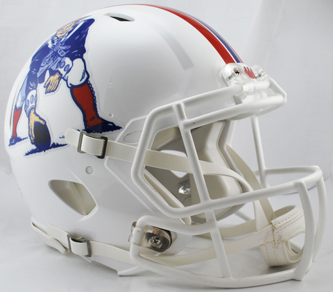 New England Patriots Authentic Speed Football Helmet White